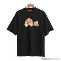 2021s homens de verão e mulheres camisetas estilista t-shirt mesmas palmas palmas anjos impressos manga curta truncado urso t-shirt