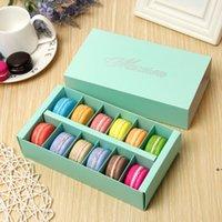 12 Cavity Macaron Box Titulaires Cadeaux Food Cadeaux Packaging Boîtes de papier pour boulangerie Cupcake Snack Candy Biscuits Boîte Muffin DHD9423
