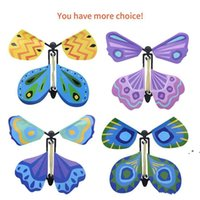 Party Favor 3D magic flying butterfly DIY Novel toy various playing methods props tricks Party Supplies For Kids Gifts EWF9728