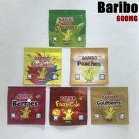 Boş İlaçlı Infused 1 oz Baribo Yerler Ambalaj Mylar Çanta 6 çeşit 600 mg Goldbears Meyve Salatası Koku Geçirmez Ambalaj Çantası Açılabilir Ziplock Baggies
