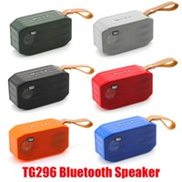 Araba Sıcak TG296 Handsfree Bluetooth Kablosuz TF Subwoofers Taşınabilir Stereo Profil Açık Hoparlörler Hoparlör Mini Bas USB Akü SJLDO