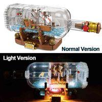Lepinblocks LED Light Light Shang в бутылке 21313 Техника Идеи Lepining Playmobil Строительные блоки Кирпичи Детские игрушки для детей 1008