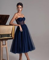 Elegant Lavender Navy Blue Blush Pink A Line Evening Dresses Dubai Arabic Ankle Length Sexy Sweetheart Party Prom Dress Middle East Ruffles Formal Gowns