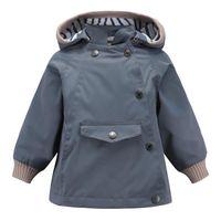 Jackets Autumn Children's Windbreaker Windproof And Rainproof Boys Girls Outdoor Middle Small Coat Hat Detachable