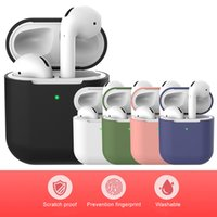 For Airpods 1 2 Silicone Case Soft Ultra Thin Protector Airpod Cover Earphone Cases Anti-drop Earpods Clothing With Hook Retail Package