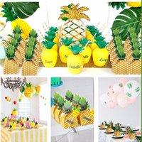 Geschenk Wrap Hawaii Kreative Ananas Candy Box Luau Flamingo Parti Sommer Strand Geburtstags-Tasche Hawaiian Gunst Dekor Tropische Safari