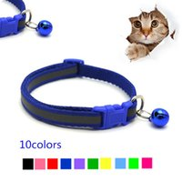 Dog Collars & Leashes Personalised Reflective Pet Bell Collar Quick Release Adjustable Size Soft Material For Cats And Small Dogs Cat Access