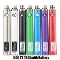 Originalbatterien 1300mAh Ugo T3 510 Thread Vape Stift Vorheizvariable Spannung Dual Ladegerät Port Passthrough Ecig für dicke Ölvapes Patronen
