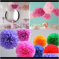 Decorative Flowers Wreaths Colorful Flower Ball Tissue Paper Pom Poms For Wedding Birthday Christmas Mothers Day Party Decoration Rra1 Ihp7O