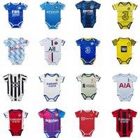 2021 2022 Baby Kit Jerseys Fussball Sets Milan Manchester Kinder Anzug Jungen Kind Paris Fußball Hemd UTD 21 22 Echte Madrid Uniform Messi 6-18 Monate Mann Top Qualität Sohn