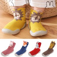 First Walkers Men And Women Baby Toddler Shoes Cute Cartoon Warm Floor Socks Rubber Soft Sole Non-slip Pair Of