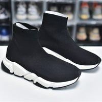 클래식 남성 여성 양말 신발 캐주얼 스피드 스니커 즈 플랫폼 베이지 블랙 니트 스니커즈 트레이너 조깅 조깅 걷는 chaussures