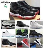 Véritable fibre de carbone 11 Bred Jubilé Concord 45 Space Space Basketball Chaussures Hommes 11S Légende Bleu Gym Rouge 72-10 Sneakers de qualité supérieure