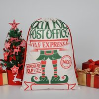 2021 Derniers styles Sac-cadeau de Noël Grand Sac de cordon de cordon de sac de santa Santa Sac avec des rennes