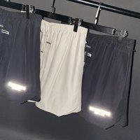 Человек и женщины Светоотражающие фитнес Шорты сплетенные повседневные сущности хип-хоп модная мода пятиточечные штаны WGKZ12
