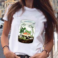 Women Graphic Cartoon Printing Clothing Cute Fashion Spring Summer Aesthetic Print Female Clothes Tops Tees Tshirt T-Shirt Women's