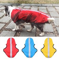 Dog Apparel Pet Waterproof Jacket Outdoor Rain Coat For Large Medium Dogs With Hood Breathable Mesh