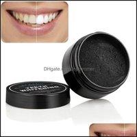 Mundhygiene Gesundheit Schönheitfood Sorte Whitening Products Reinigung Zähne mit aktivierter schwarzer Holzkohlepulver Drop Lieferung 2021 Jxhzh