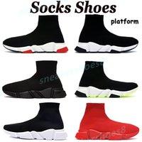 Plataforma casual meias sapatos mens chaussures triplo preto branco estilista estilista moda homens mulheres treinadores clássicos EUA 6-12