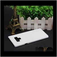 Zelle 3D Sublimation leeres weißes Telefongehäuse Samsung Galaxy S8 S9 8 9 für S7 S6 Rand Anmerkung 5 Hardcase Q9HNY P8G4Y