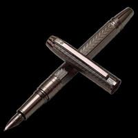 Fountain Pens Hero Pen H610 Metal Cepillado Agua Gris Ondulaciones Moda Iraurita Fine 0.5mm Oficina de Negocios Smoother Oficina de Negocios Estudiante Tinta