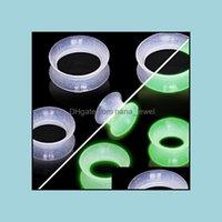 Tappi Tunnels GioielliF23 Flesh 160pcs / lot Soft Sile Glow In Dark Ear Tunnel Body Piercing Gioielli Goccia Consegna 2021 xs1zn