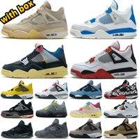 2021 Hot Sail Neon jordan 4 4s Metallic Purple Basketball Union Noir Guava Ice Jumpman Shoes Zapatillas Zapatillas de deporte Black Cat Cred Fire Red Entrenadores