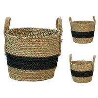 Storage Baskets Straw Basket Rattan Floor Flower Pot Crafts Decoration Modern Home Bedroom Shop Hanging