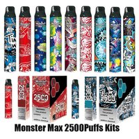 Authentic Monster Max Disposable Pod Device Kit 2500 Puffs Big Capacity Stick Vapor Vape Pen Bar Cartoon Prints 100% Original VS Plus Pro