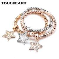 Bracciali di fascino TOCKEART 3 PZ / Set Star forma albero del braccialetto Braccialetto Braccialetti Bangles Charms per le donne gioielli in argento per la guarigione SBR180088