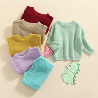 Pullover 6 Colors Born Toddler Thick Long Sleeve Candy Color Sweaters Autumn Winter Warm Knitted Pullovers Top For Baby Boys Girls