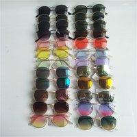 Steampunk 선글라스 남자 여성 금속 프레임 더블 브리지 UV400 보호 복고풍 태양 안경 고글 안경