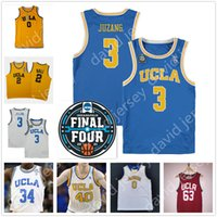 2021 Final Four 4 personalizado UCLA Baloncesto Jersey NCAA COLEGE JOHNNY JUZANG WESTBOOK BALL SMITH HOLIDAY Lavin Love Powell Jalen Hill Collison Baron Davis