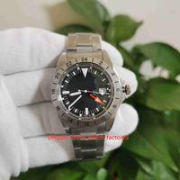 FG Factory Top Kwaliteit Horloges Vintage 40mm 1978 Explorer 1655 Oranje Hand Freccione Asia 2813 Beweging Mechanische Automatische Mens Horloge Herenhorloges