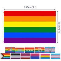 Mode Rainbow Design Banner Outdoor Creative 90x150cm Größe Urlaub Dekoration Werbung Banner Großhandel