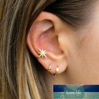 925 Sterling prata orelha orelha brincos para mulheres clipe de zircão encantador em ouro escudo jóias sem piercing 1 pcs preço de fábrica especialista em design de qualidade mais recente