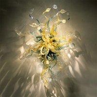 Современные Nordic Lamps Murano Цветок Разноцветный оттенок Декоративные Рука Стекло Висит Искусство 40 * 70см Энергия Sconce Сохранение Настенной Лампы