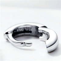 Bamoer 2019 Nuovo argento sterling 925 lucidatura Tiny Circle Hoop orecchini per donne e uomini stile coreano gioielli fini SCE552 1894 Q2