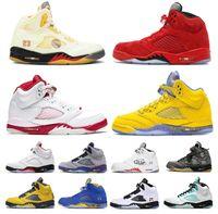 2021 الرجال jumpman 5 أحذية كرة السلة الشراع النار الأحمر الأخضر 5 ثانية أوريغون البط البديل العنب رجل أحذية رياضية 40-46