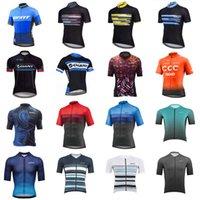 Dev Pro Takımı Erkek Bisiklet Kısa Kollu Jersey Yol Yarış Gömlek Sürme Bisiklet Bisiklet Tops Nefes Açık Spor Maillot S21042314