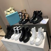 2021 ROIS BOOTS NYLON Derby Toble Martin Botas Mujeres Battle Battle Zapato de combate Bota negra Blanco Caucho Sole Plataforma Zapatos Bolsa con caja
