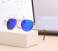 2021 Novo 3548S Top Quality Lente de vidro polarizado clássico piloto marca de metal óculos de sol homens mulheres feriado moda sol óculos 6 cor