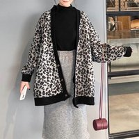 Giacche da donna per le donne Leopard Ladies Molla Cat Spring Autumn Giacca 8WT002