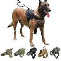 Köpek Koşum Alman Çoban Pet Köpek Yaka Koşum Servis Köpek Yelek Kolu Aksesuarları Ile Küçük Köpekler Için 210712