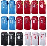 Basketball-Bildschirm gedruckt Kelly Olynyk Jersey 41 Avery Bradley 11 Jasean Tate 8 Kevin Porter JR 3 DJ Augustin Größe S bis XXXL