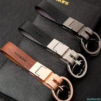 Business Gifts Car Styling Upscale Keychain Leather Key Ring Holder for Renault Lexus Subaru Volkswagen Audi Volvo Mazda Buick