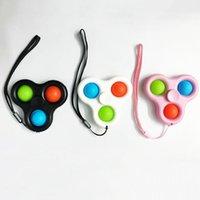 Mais recente estilo descompressivo Pop Fidget Spinner Rotation Brinquedos Dimple Silicone Anti-estática para necessidades especiais para aliviar a pressão