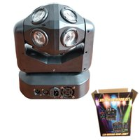 DJ Lights Moving Head RGBW Projector Lighting DMX-512 Sound Active LED Party Lamp great for Christmas Birthday KTV Bar
