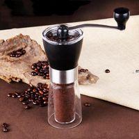 Moedores de café Manual de Cerâmica Moedor De Café Lavável ABS Cerâmica Núcleo de Aço Inoxidável Home Cozinha Mini Coffe Máquina OWE8870