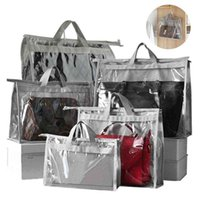 5 Pack PVC Handbag Dust Cover Transparent Anti-Dust Purse Storage Bag For Hanging Closet With Zipper And Handle